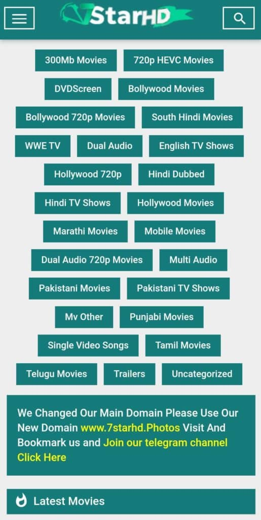 7Starhd 2020 – Bollywood, Hollywood, South Movies in HD